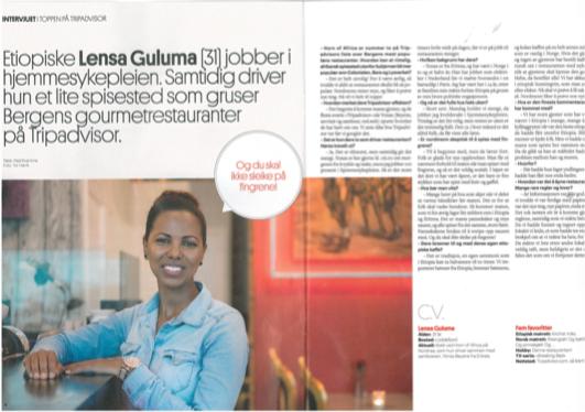 Article Horn of Africa, Bergensavisen 13.11.2015